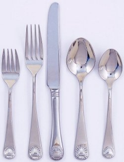 Continental Shell Stainless Flatware - Nautical Luxuries