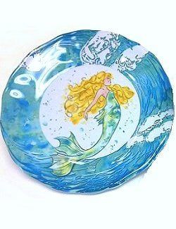 Non-Skid Mermaid Splash  Luxury Melamine Dinnerware