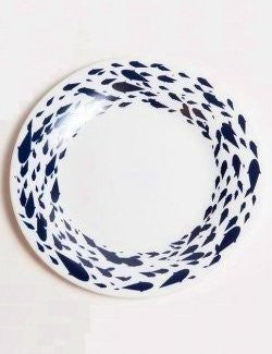 Schooling Fish Tempered Glass Dinnerware - Nautical Luxuries
