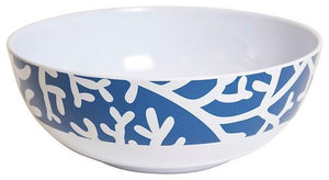 Non-Skid Coral Print  Luxury Melamine Dinnerware - Nautical Luxuries