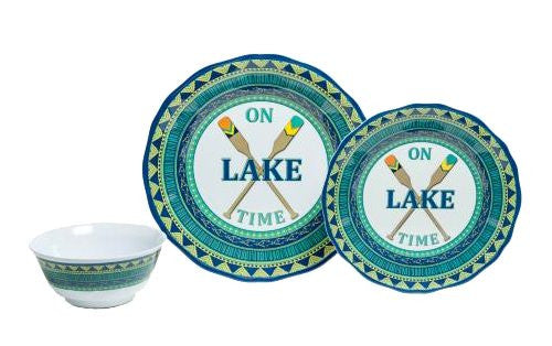 Non-Skid Lake House Luxury Melamine Dinnerware