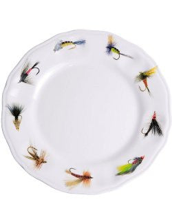 Non-Skid Fly Fishing Luxury Melamine Dinnerware  sc 1 st  Nautical Luxuries & Non-Skid Fly Fishing Luxury Melamine Dinnerware - Nautical Luxuries