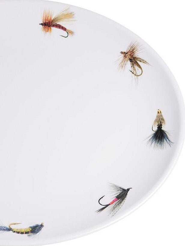 Non-Skid Fly Fishing Luxury Melamine Dinnerware