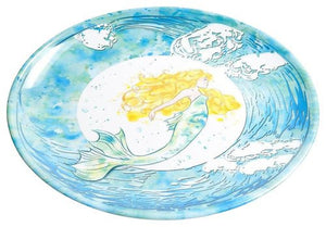 Non-Skid Mermaid Splash  Luxury Melamine Dinnerware - Nautical Luxuries