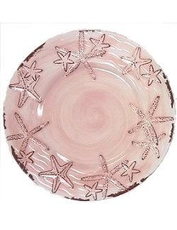 Terracotta Style Pink Starfish Luxury Non-Breakable Dinnerware - Nautical Luxuries