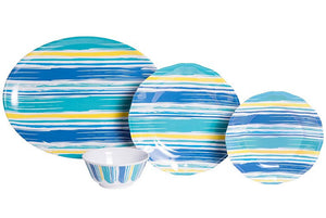 Non-Skid Summer Shade Luxury Melamine Dinnerware - Nautical Luxuries