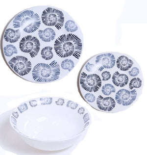 Nautilus Shell Tempered Glass Dinnerware - Nautical Luxuries