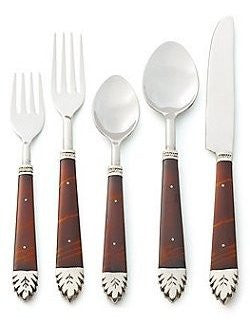 Captain's Dark Wood Stainless Flatware