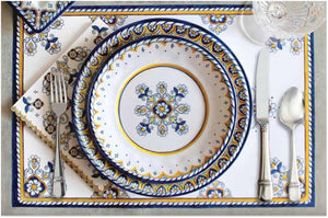 Old World: Salerno Blue Melamine Dinnerware - Nautical Luxuries
