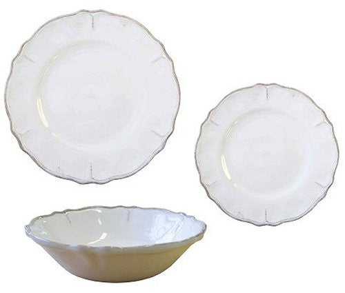 Rustic Beach Cottage Antique White Melamine Dinnerware - Nautical Luxuries