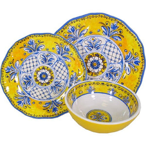 San Tropez Triple-Weight Melamine Dinnerware Set - Nautical Luxuries