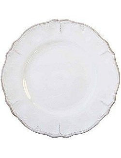 Rustic Beach Cottage Antique White Melamine Dinnerware