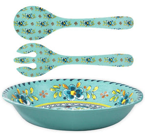Old World: Aegean Turquoise Melamine Dinnerware - Nautical Luxuries