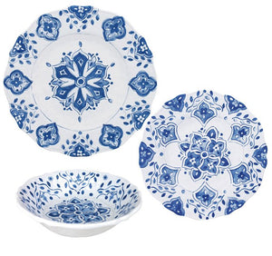 Old World: Blue Tangier Melamine Dinnerware - Nautical Luxuries
