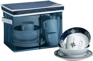 Northern Star Melamine Dinnerware For Six - Nautical Luxuries
