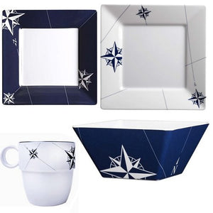 Northern Star Square Melamine Dinnerware - Nautical Luxuries