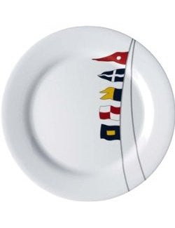 Non-Skid Waving Pennants Dinnerware For Six - Nautical Luxuries