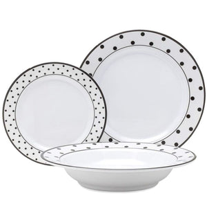 Posh Dots Melamine Dinnerware - Nautical Luxuries