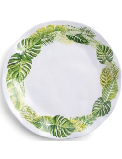 Bali Palm Luxury Melamine Dinnerware - Nautical Luxuries