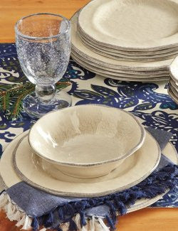 Rustic Crackle Finish Melamine Dinnerware