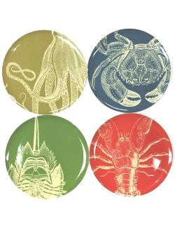 Sea Life 8-Piece Plate Sets - Nautical Luxuries