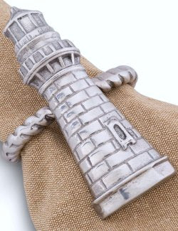 Grande Lighthouse Napkin Ring Set