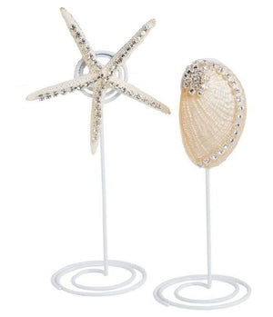 Neptune's Jewels Crystal Shell Placecard Holder Sets