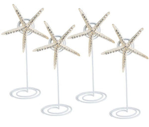 Neptune's Jewels Crystal Shell Placecard Holder Sets - Nautical Luxuries