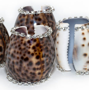 Neptune's Jewels Crystal Tortoise Shell 4-Pc. Napkin Ring Set - Nautical Luxuries