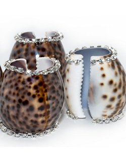 Neptune's Jewels Crystal Tortoise Shell Napkin Ring Set