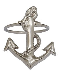Classic Fouled Anchor Napkin Rings