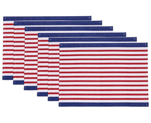 Patriotic Stripes Placemat And Napkin Sets - Nautical Luxuries
