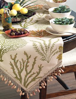 Autumn Reef Beaded Table Runners - Nautical Luxuries