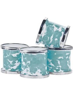 Water Splash Porcelain Enamel Napkin Rings