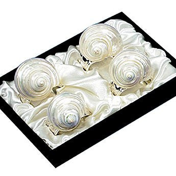 Pearl Turbo Shell Napkin Ring Set