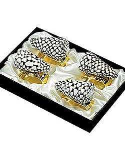 Speckled Marmoreus Napkin Ring Set - Nautical Luxuries