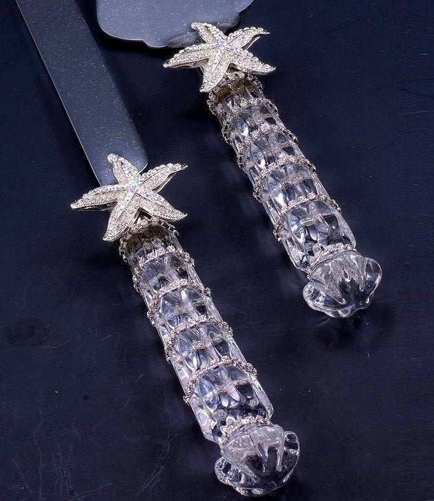 Swarovski Crystals Coastal Cake Server Set