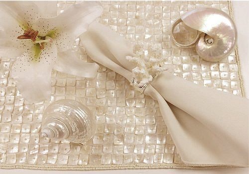 Mother Of Pearl Placemats Amp Table Runners Nautical Luxuries