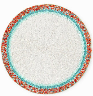 Amalfi Dawn Hand-Beaded Luxury Placemats - Nautical Luxuries