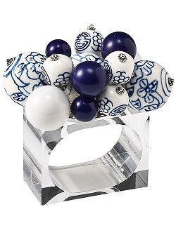 Blue Baubled Napkin Ring Set - Nautical Luxuries