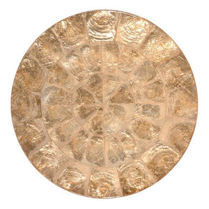 Kim Seybert Round Capiz Shell Placemat Set - Nautical Luxuries
