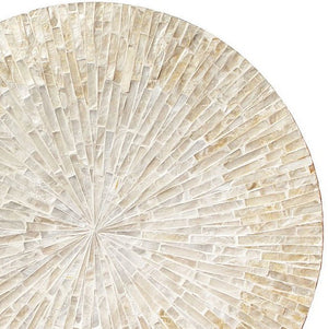 Hand-Cut Capiz Shell Tiles Placemat Set - Nautical Luxuries