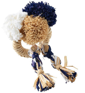 Raffia Pom Napkin Ring Sets - Nautical Luxuries