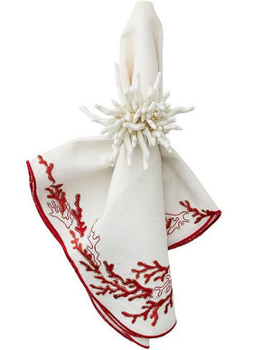 Reef Coral Napkin Ring Sets - Nautical Luxuries