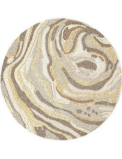 Rippling Sands Luxury Hand-Beaded Placemat Set