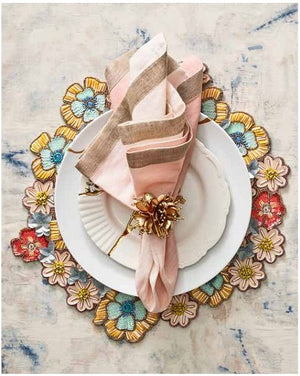 Sea Bouquet Luxury Beaded Placemat Set - Nautical Luxuries
