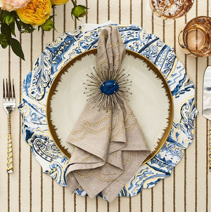 Summer Paisley Lacquered Placemat Set - Nautical Luxuries