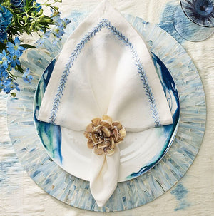 Tahiti Dawn Capiz Shell Placemat Set - Nautical Luxuries