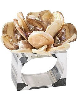 Tahiti River Shells Napkin Ring Set - Nautical Luxuries