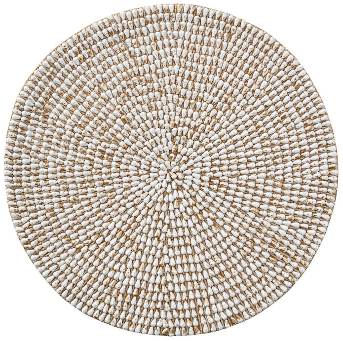 Shoreline Mini-Shells Beaded Placemat Set - Nautical Luxuries